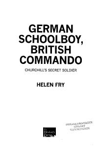 German Schoolboy  British Commando PDF