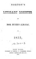 Norton s Literary Register And Book Buyers Almanac PDF