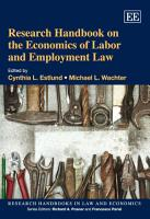 Research Handbook on the Economics of Labor and Employment Law PDF