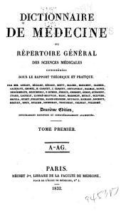 Dictionnaire de médecine ou Répertoire général des sciences médicales considérées sous le rapport théorique et pratique