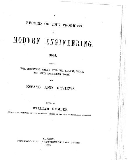 A Record of the Progress of Modern Engineering PDF