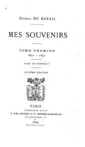 Mes souvenirs: Volume1
