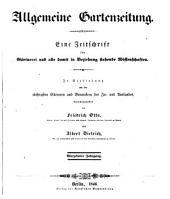 Allgemeine Gartenzeitung: Band 14
