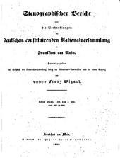 Stenographischer Bericht über die Verhandlungen der Deutschen consituirenden Nationslversammlung zu Frankfurt am Main: Band 8