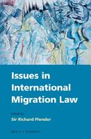 Issues in International Migration Law PDF