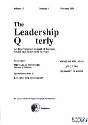 The Leadership Quarterly Book PDF
