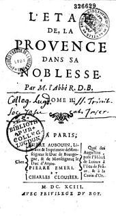 L'état et le nobiliaire de la Provence...