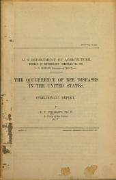 The Occurrence of Bee Diseases in the United States: (Preliminary Report.)