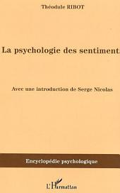 La psychologie des sentiments: (1896)