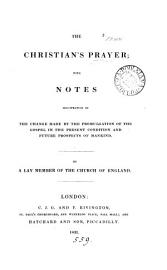 The Christian S Prayer  By A Lay Member Of The Church Of England  S  Hinds  In Verse