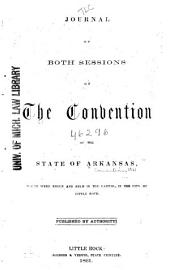 Journal of Both Sessions of the Convention of the State of Arkansas