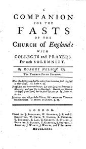 A Companion for the Fasts of the Church of England ... The twenty-fifth edition