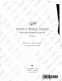 Today s Moral Issuse PDF