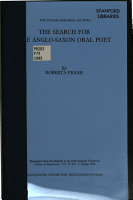 The Search for the Anglo Saxon Oral Poet PDF