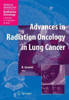 Advances in Radiation Oncology in Lung Cancer PDF