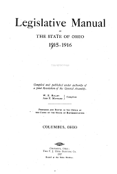 Manual of Legislative Practice in the General Assembly of the State of Ohio