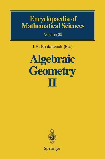 Algebraic Geometry II PDF