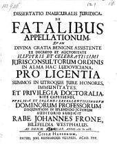 De fatalibus appellationum