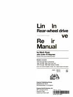 Lincoln rear-wheel drive automotive repair manual