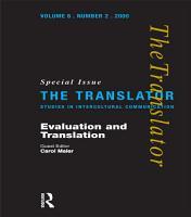 Evaluation and Translation PDF