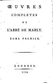 Oevres complètes: Volume1