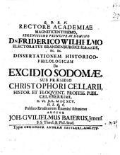 Rectore academiae ... ¬Friderico ¬Wilhelmo ... ¬dissertationem ¬histor.-¬philol. de excidio Sodomae