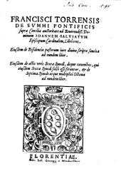 De summi pontificis supra concilia auctoritate