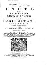 De Sublimitate Commentarius