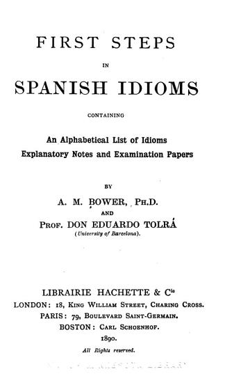 First steps in Spanish idioms PDF