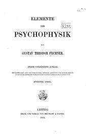 Elemente Der Psychophysik: Volume 2