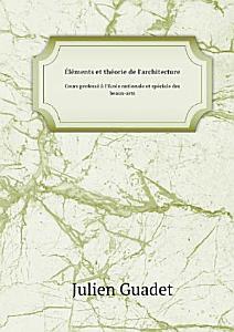 l ments et th orie de l architecture PDF