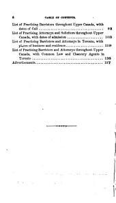 Upper Canada Law List