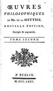 Œuvres philosophiques: Volume2