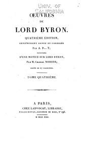 Oeuvres de Lord Byron: Volume4