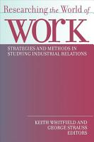 Researching the World of Work PDF