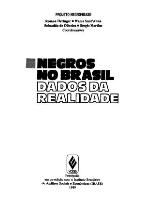 Negros no Brasil PDF