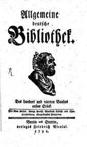 Allgemeine deutsche Bibliothek: Band 104