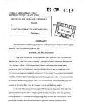 TakeTwo Interactive Software, Inc.: Securities and Exchange Commission Litigation Complaint