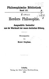 Herders Philosophie
