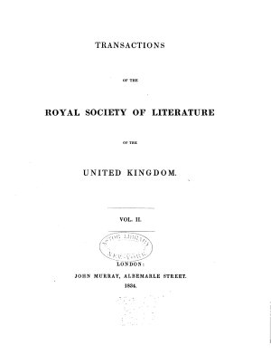 Transactions of the Royal Society of Literature of the United Kingdom PDF