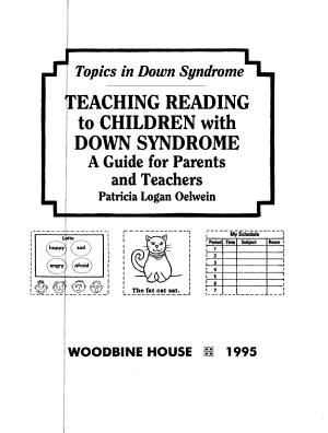 Teaching Reading to Children with Down Syndrome PDF