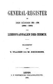 Justus Liebigs Annalen der Chemie: Bände 221-276