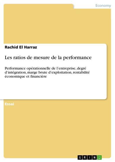 Les ratios de mesure de la performance PDF