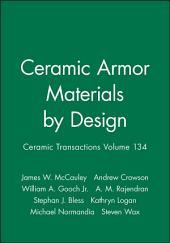 Ceramic Armor Materials by Design