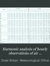 Harmonic Analysis of Hourly Observations of Air Temperature and Pressure at British Observatories