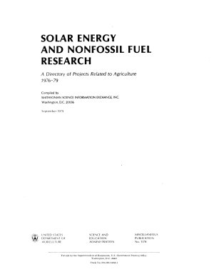 Solar Energy and Nonfossil Fuel Research PDF