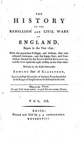 The History of the Rebellion and Civil Wars in England, Begun in the Year 1641. - Basil, Tourneisen 1798