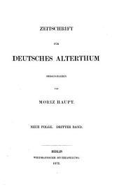 zeitschrift fur deutshes alterthum