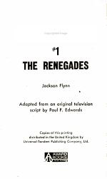 Gunsmoke #1 The Renegades