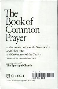 The Book of Common Prayer  Le Livre de la Priere Commune